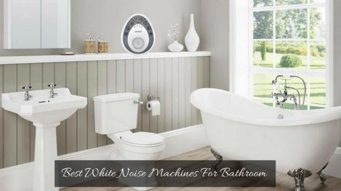 best white noise machines for bathroom privacy